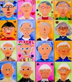 Kinderen ontmoeten ouderen